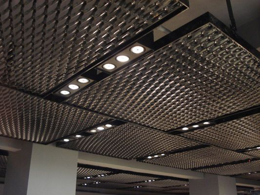 Потолок из вытяжного металла